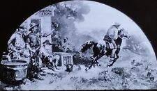 The Pony Express Rider, Magic Lantern Glass Slide, From a Mural Painting