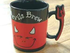 AVON DEVILS BREW Red and Black Collectable Coffee Tea Mug
