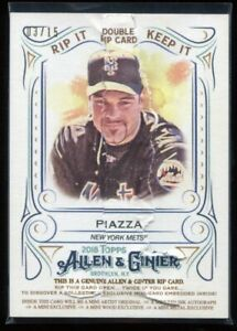 2018 Topps Allen & Ginter Double Rip Cards 23 Syndergaard Piazza 3/15 RIPPED