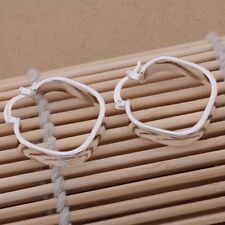 Orecchini Squared Hoop LEVA-Back Donna 925 Argento Sterling cristalli elegante