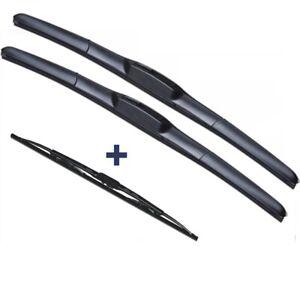 Wiper Blades Hybrid Aero For Proton Persona Hatch 1998-2003 FRONT PAIR&REAR 3xBL