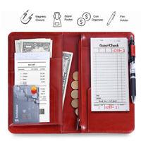Waiter Book Server Guest Check Waitress Organizer Restaurant Money Holder Wallet