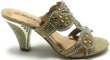 Women's Red Silver Black Killer Wedge Peep Toe Dressy Prom Sandal Shoes Sz 5-10