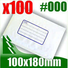 #000 x 100 Bubble Mailers 100x180mm Padded Bag Envelope