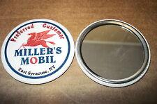 "MOBIL ""MILLER'S MOBIL"" VINTAGE NEW POCKET MIRROR, 2.25"" DIAMETER"