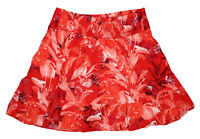Guess Floral Print Tuscan Blooms Smocked Women's Skirt Size XL NWT Red