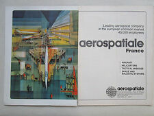 9/1972 PUB AEROSPATIALE AEROSPACE CONCORDE SUPERSONIC AIRLINER ORIGINAL AD