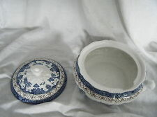 C4 Pottery Booths Real Old Willow  Tureen & Lid 25x15cm 1B5G Crack inside