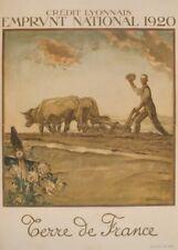 Crédit Lyonnais. The 1920  National Loan. French WW1 Propaganda Poster