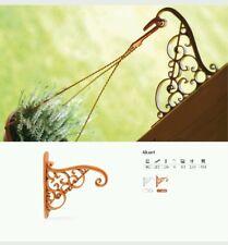 Flower Wall Bracket Garden Hanging Basket Planter Lantern Hanger Hook 2 colours