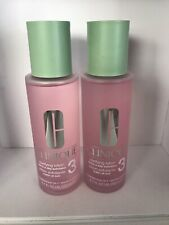 2 X Clinique Clarifying Lotion 3 Trice A Day Exfoliator  Combination Oily 6.7 Ea
