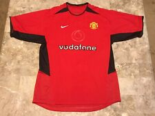 Vintage 2002-2004 Nike Manchester United Red Home Soccer Jersey Adult Size M