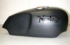Norton Flat Black Fiberglass Motorcycle Fuel Gas Tank