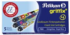 Pelikan Griffix Nr. 4 - Ersatzpatronen Großraumpatronen Füller Farbe königsblau