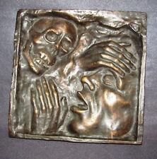 Bronze Relief Bild Künstler Arbeit