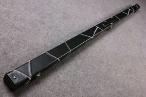 New One Piece Slimline Patchwork Leatherette Cue Case Single Slot G61520