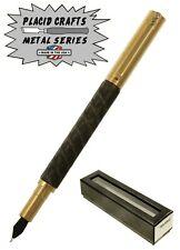 Placid Crafts Handmade Raw Series Brass & Rebar Fountain Pen / #355