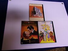Ben-Hur/ The Wizard Of Oz/ Gone With The Wind Dvd Lot Of 3 Hollywood Classics