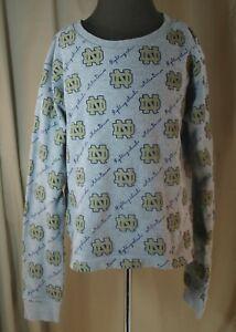Red Oak Sportswear for Juniors, Medium, Notre Dame Thermal Top