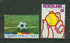 Briefmarken Niederlande 1974 Fussball WM- Tennis Mi.Nr.1030+31