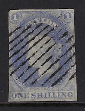 CEYLON : 1857 ONE SHILLING lilac IMPERFORATE SG 10 used