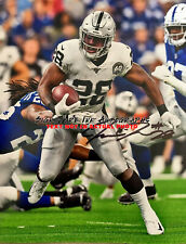 JOSH JACOBS SIGNED OAKLAND RAIDERS 8X10 PHOTO reprint