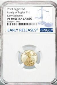 $5 GOLD 2021 WEST POINT AMERICAN EAGLE EARLY RELEASES NGC PF70 U/CAMEO PRESALE!