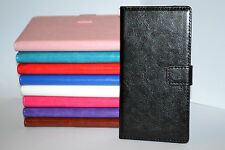 For Sony Xperia Z2 Real Leather Book Style Wallet Card Case Cover Stand
