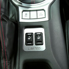 BRUSHED STAINLESS SEAT HEATER SWITCH BEZEL FITS 2013 2016 SUBARU BRZ LIMITED #3