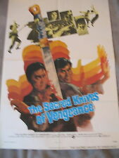 SACRED KNIVES OF VENGEANCE 1973 Chin Han Kung-fu Shaw Bros One Sheet Poster EXC8