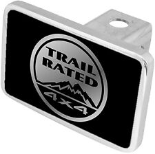 New Jeep Trail Rated Mirrored Logo Tow Hitch Cover Plug