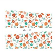 2 Sheets Nail Art Water Transfer Decal Manicure Sticker Fresh Flower Design Diy