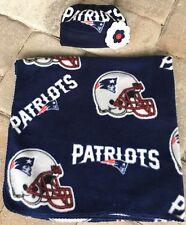 New England Patriots Newborn Fleece Baby Receiving Blanket & Hat Gift Set 0-3 mo