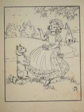 Vintage Modern (1900-1979) Date of Creation Art Drawings