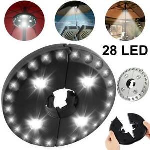 28LED Garden Patio Umbrella Parasol Light 3-Brightness Mode Outdoor Camping Lamp