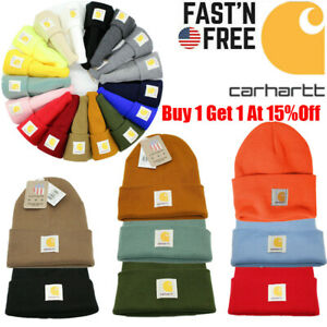 Men's Carhartt Acrylic Watch Hat Beanie Warm Winter Knit Cap Authentic-Original