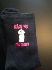 FUN BICHON FRISE MUMMY PRINTED SOCKS GIFT BOXED BIRTHDAY MUM PRESENT WOMENS