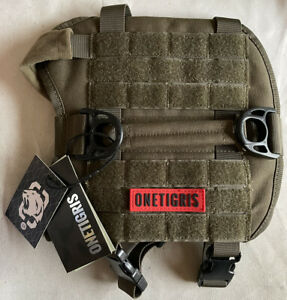 OneTigris Tactical Dog Harness with Handle Military Vest X-Small Dark Green