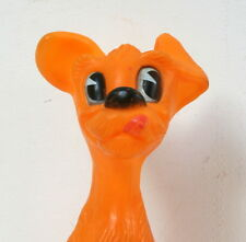 Pouet vintage chien orange