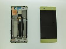 Lime Gold Sony Xperia XA PP10 F3111 F3113 F3115 LCD Touch Screen Digitizer Frame