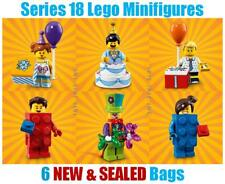 6 Lego Minifigures Series 18 - SEALED ( cake clown birthday party new gift )