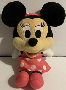 """Fisher Price 2013 Mattel Talking Minnie 12"""" Big Head Plush Pink Outfit Disney"""
