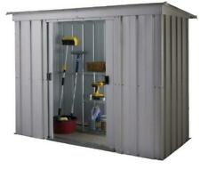 Yardmaster 6 x 4 ft Store-All Pent Roofed Metal Shed - Silver