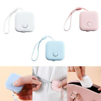 Square Retractable Tape Measure Push Button For Sewing Cloth Measuring Portable