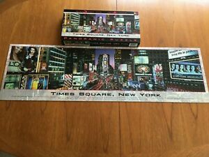 TIMES SQUARE, NEW YORK, 750 Piece PANORAMIC 3ft-Wide Jigsaw Puzzle, NEW, sealed