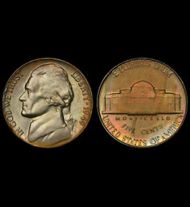 MS64 1949 5C Jefferson Nickel, PCGS Secure- Pretty Toned