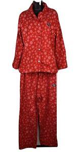 San Francisco 49 ers NFL Football Pajamas PJ XL Flannel Red Snow Flakes Reebok
