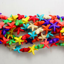 Wholesale Turquoise 14mm Starfish Spacer Loose Beads15.5 Inches Strand