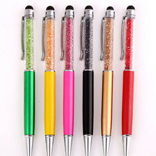 1Pc New Crystal Ballpoint Pen With Touch Screen Pens Office Stationery Supplies