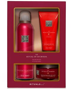 RITUALS The Ritual Of Ayurveda 3 Piece Bath & Body Set Shower Cream Scrub New